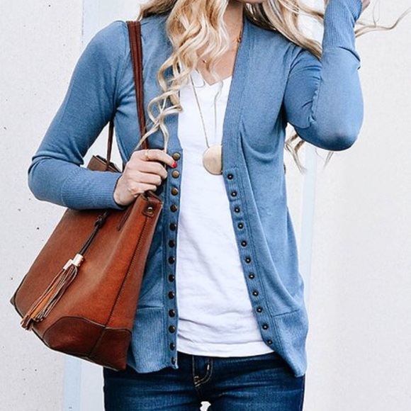 newest selection aesthetic appearance better Zulily Snap Front Cardigan Titanium Blue
